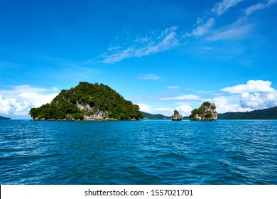 LANGKAWI, MALAYSIA - OCTOBER 13.2019: Langkawi island hopping, diving and snorkeling in Malaysia.
