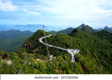 Langkawi Sky Bridge is a 125-meter curved pedestrian cable-stayed bridge in Malaysia, completed in 2005