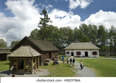 LANGLEY - JUNE 13, 2008: A village community with a population of 3,400 is home to Fort Langley National Historic Site, the former fur trade post of the Hudson's Bay Company. British Columbia, Canada