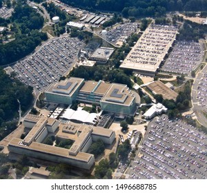 Langley, Va./USA-9/4/19: The headquarters of the Central Intelligence Agency outside Washington, D.C.