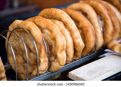 Langos is the hungarian traditional fried dough pie for sale