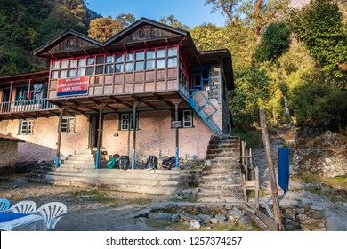LANGTANG VALLEY, NEPAL, NOVEMBER 07,2018 : Lama Hotel village is a junction of several trekking paths at Langtang valley.