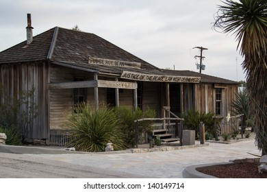 LANGTRY,TX,USA-MAY 28: The saloon of judge roy bean accepts visitors on May 28, 2013.  Judge Roy Bean, who called himself the Law West of the Pecos, administered justice from his saloon, now a museum.