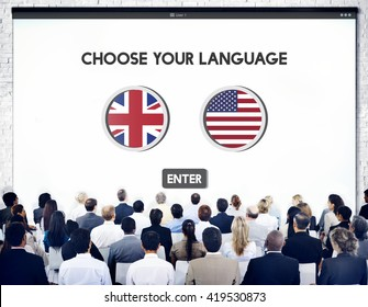 Language Dictionary English American Concept
