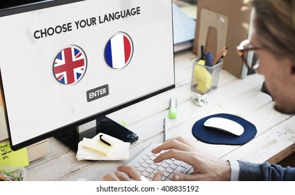 Language Dictionary English French Concept