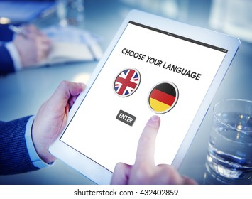Language Dictionary English German Concept