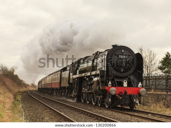 Langwathby England March 02 Preserved Steam Stock Photo