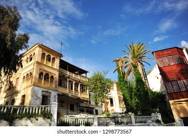 Lanjaron, Spain - Apr 15, 2014: ruins of an old hotel in Lanjarón, village of the famous region of Alpujarras in the province of Granada, Andalusia, Spain
