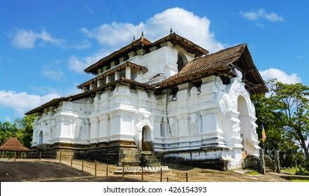 Lankathialaka temple in Kandy, Sri Lanka