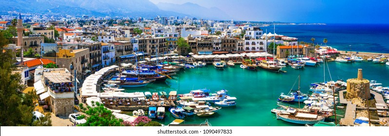 Lanmarks of Cyprus - beautiful Kyrenia in northen turkish part
