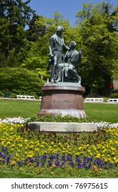 lanner-strauss memorial in the spa garden of Baden, Austria
