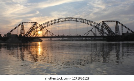 The Lansdowne Bridge is a 19th century bridge that spans the Indus River between the cities of Sukkur and Rohri, in the Sindh province of Pakistan.the bridgeis longest rigid girder bridge in the world