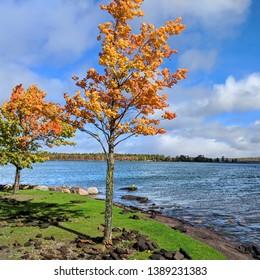 L'anse Bay of Lake Superior from the Baraga Municipal Marina in Michigan