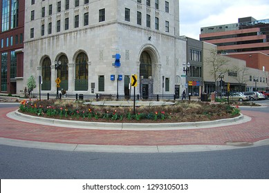 LANSING, MICHIGAN – APRIL 10: Downtown street scene and architecture on April 10, 2010 in Lansing, MI. The city is the fifth largest in Michigan.