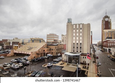 Lansing, Michigan, USA - March 14, 2019: Exterior of Davenport University in downtown Lansing Michigan. Davenport was founded in 1866 and is a private nonprofit university with several campus and offe
