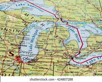 detroit michigan map Stock Photos, Images & Photography | Shutterstock