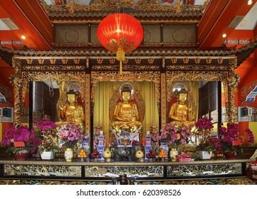 LANTAU ISLAND. HONG KONG. CHINA. 24 FEBRUARY 2014 : Po Lin Monastery. Lantau Island. Hong Kong. China