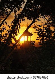 Lantern by sunset
