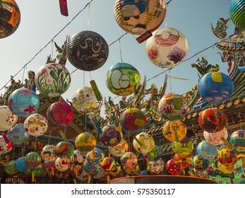Lantern festival  at Pu Chi Temple in Tainan City, Taiwan.