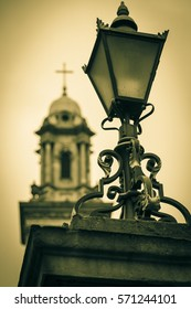 Lantern in front of Church Steeple