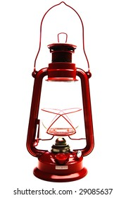 Lantern isolated over white