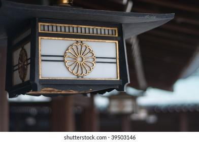 Lantern at Japanese temple
