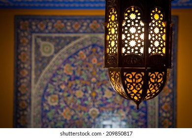 lantern lamp in a traditional islamic style