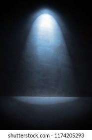 Lantern lights the wall