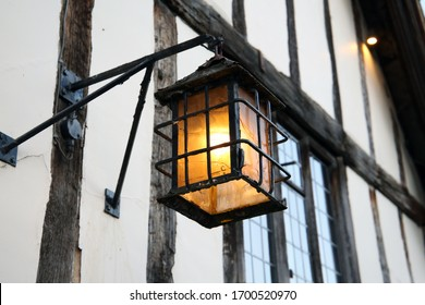 Lantern on the front of an Elizabethan building