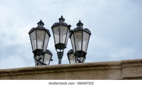 Lanterns behind the wall