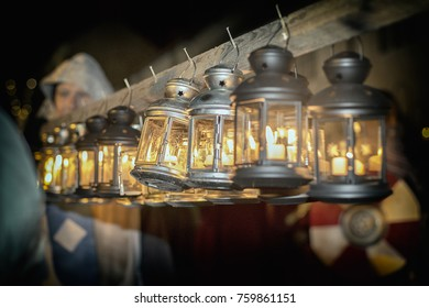 Lanterns at Dunster by Candlelight in Somerset