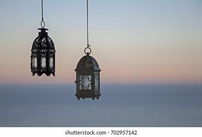 Lanterns hanging fron the ceiling/Lanterns