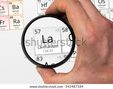 Lanthanium Symbol La Element Periodic Table Stock Photo Edit Now