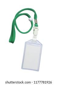 Lanyard id card holder isolated on white background