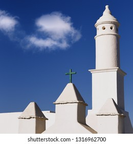 Lanzarote, architecture detail, church. Canary islands, Spain.