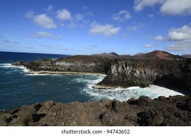 Lanzarote, Canary Island, cliffs of Los Hervideros