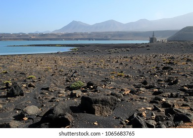 Lanzarote Canary Island Spain-January 21 2018:Volcanic landscapes