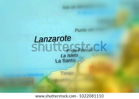 Map Of Spain Lanzarote.Lanzarote Canary Islands Spain Europe Stock Photo Edit Now