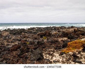 Lanzarote, Spain: Caleta del Mojón Blanco, white sand and lava rocks