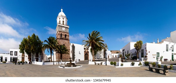 Lanzarote, Spain - June 2, 2018: Spanish municipality Teguise located in the central part of the island of Lanzarote