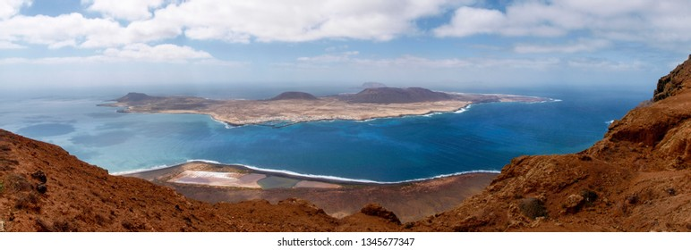 Lanzarote, Spain: La Graciosa, a small island in the Canary archipelago.