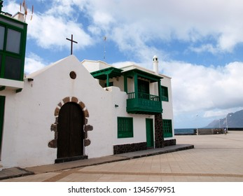 Lanzarote, Spain - May 31, 2017: Famara village in the north part of the island