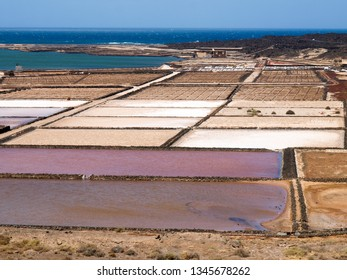 Lanzarote, Spain: Open air drying salts in the open air along the coast of the island.