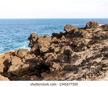Lanzarote, Spain: rocky coast in the area of Charco de Palo