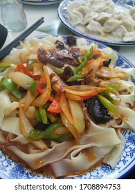 Lanzhou-style lamian, Chinese traditional noodle,  made from dough and pulled into strands.