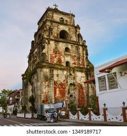 Laoag City, Ilocos Norte/PH - Dec. 17, 2012: Sinking Bell Tower, Saint William's Cathedral.