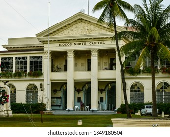 Laoag, Ilocos Norte/PH - Dec. 17, 2012: Capitol Building of the province of Ilocos Norte, Philippines.