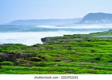 Laomei Green Reef - Taiwan North Coast seasonal features, shot in Shimen District, New Taipei, Taiwan.