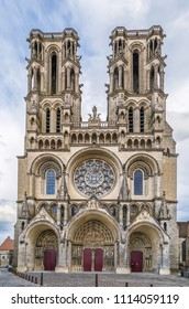 Laon Cathedral is one of the most important examples of the Gothic architecture of the 12th and 13th centuries located in Laon, Picardy, France. Facade