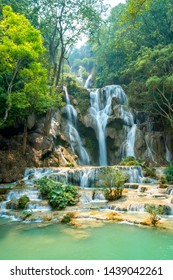 laos forest waterfall low Shutter speed